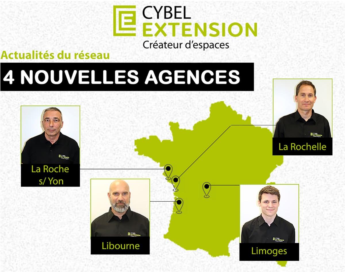 4 Ouvertures d'agences Cybel Extension