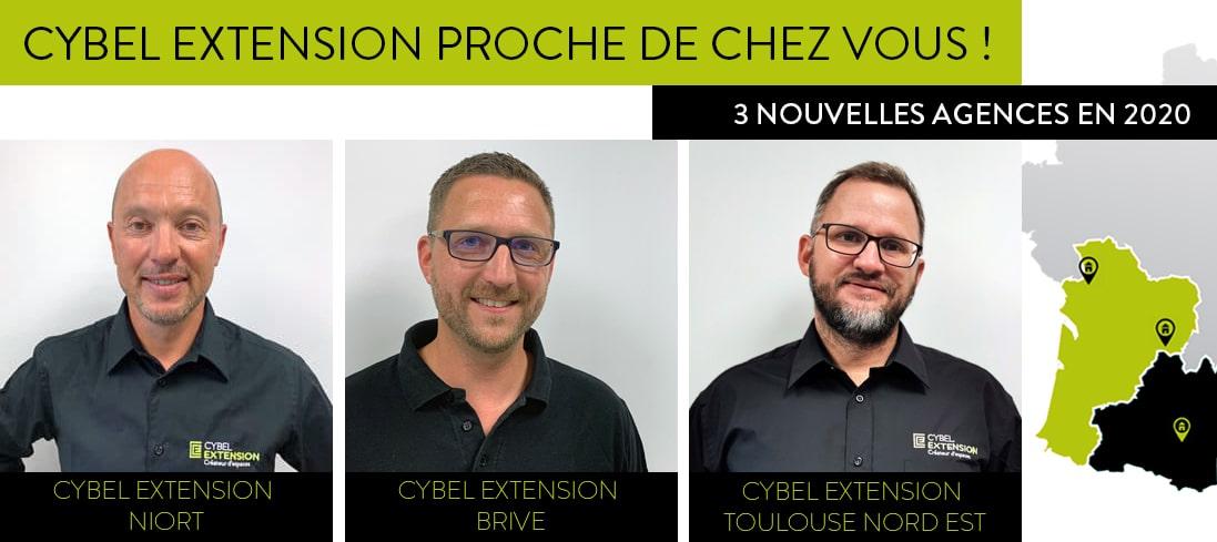 Nouvelles agences 2020 chez Cybel Extension
